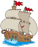 Barco de vela viejo libre illustration