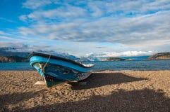 Barco del asesino en general Carrera, Carretera austral, carretera de Lago Fotografía de archivo libre de regalías