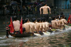 Barco del dragón en Guangzhou Fotos de archivo