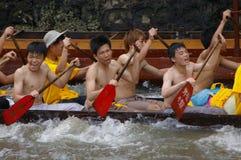 Barco del dragón en Guangzhou Fotos de archivo libres de regalías