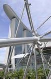 barco del edificio en singapour Imagen de archivo libre de regalías