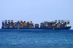 Barco del envío de cargo Foto de archivo libre de regalías