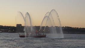Barco del fuego Fotos de archivo