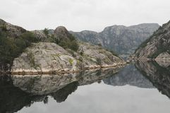 Barco del Gateway de Lysefjord Foto de archivo libre de regalías