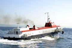 Barco del hidrodeslizador Fotos de archivo libres de regalías