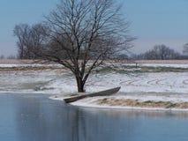 Barco del invierno Fotografía de archivo