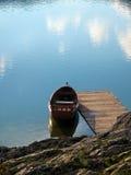 Barco del lago Fotografía de archivo