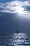 Barco del ocaso foto de archivo