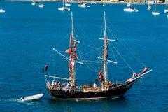 Barco del partido del barco pirata imágenes de archivo libres de regalías