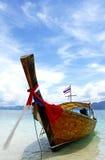 Barco del pescador el día soleado imágenes de archivo libres de regalías