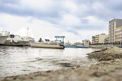 Barco del ` s de Bari Italy Fisherman Fotos de archivo
