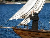 Barco del siglo XVIII de la fijación Imagen de archivo libre de regalías