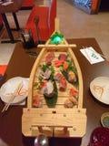 Barco del sushi Foto de archivo