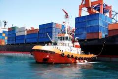 Barco del tirón Imagenes de archivo