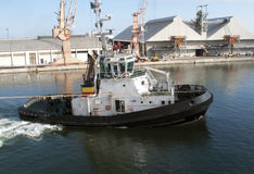 Barco del tirón Fotos de archivo libres de regalías