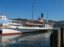 Barco del vapor de la rueda de paletas Imágenes de archivo libres de regalías