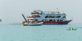Barco del verano de las islas jónicas Foto de archivo