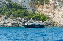 Barco del verano de las islas jónicas Imagenes de archivo
