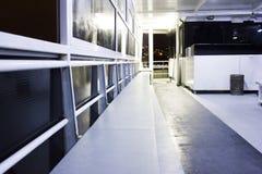 Barco dentro en la noche Imagen de archivo libre de regalías