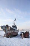 Barco Desolated Fotografía de archivo