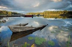 Barco destruído Fotos de Stock Royalty Free