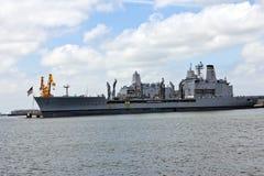 Barco do Armada USNS Patuxent T-AO 201 Imagens de Stock Royalty Free
