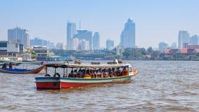 Barco do assinante em Banguecoque, Tailândia Imagens de Stock