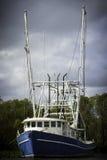 Barco do camarão de Louisiana foto de stock