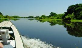 Barco do cruzeiro no Rio Amazonas fotos de stock