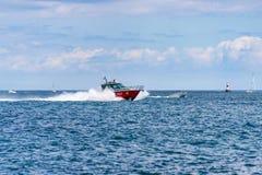 Barco do departamento dos bombeiros de Chicago Imagens de Stock Royalty Free
