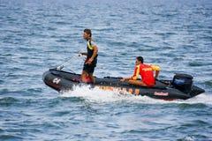 Barco do Lifeguard na ação Imagens de Stock Royalty Free