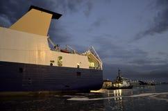 Barco do navio e do reboque Imagem de Stock