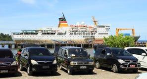 Barco do oceano em Nabire foto de stock royalty free