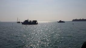 Barco do pescador no mar Fotografia de Stock Royalty Free
