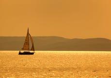 Barco do por do sol Imagem de Stock Royalty Free