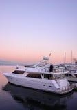 Barco do por do sol Imagem de Stock