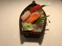 Barco do Sashimi imagens de stock