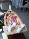 Barco do sushi fotos de stock