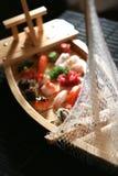Barco do sushi imagens de stock