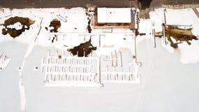 Barco doc. de McCall Idaho congelado en invierno diring del hielo fotos de archivo
