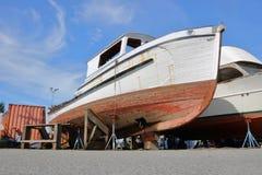 Barco e jaques de madeira Imagens de Stock