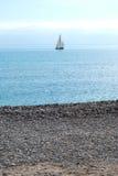 Barco e praia Fotografia de Stock
