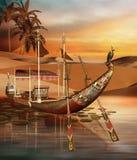 Barco egipcio ilustración del vector