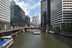 Barco el río Chicago del viaje Fotografía de archivo libre de regalías