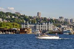 Barco em Seattle foto de stock