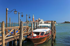 Barco em uma amarração, Veneza, Italy Fotografia de Stock