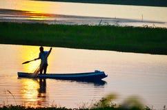 Barco en agua Imagenes de archivo