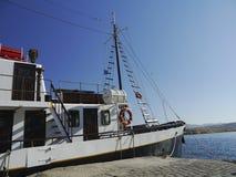 Barco en Chania Fotografía de archivo