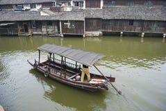 Barco en China imagenes de archivo