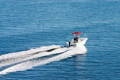 Barco en day2 tranquilo Foto de archivo